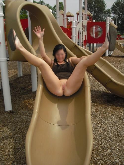 Exhibe dans un parc