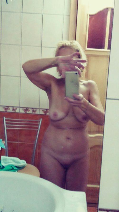 selfie sexe d'une amatrice nue